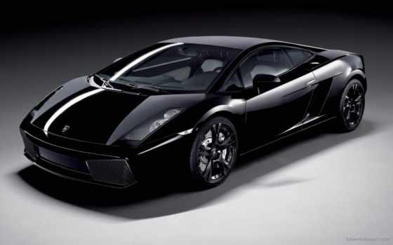 авто, lamborghini, black