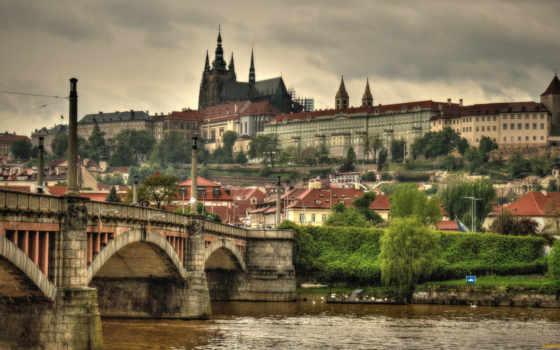 Прага, обои, мост