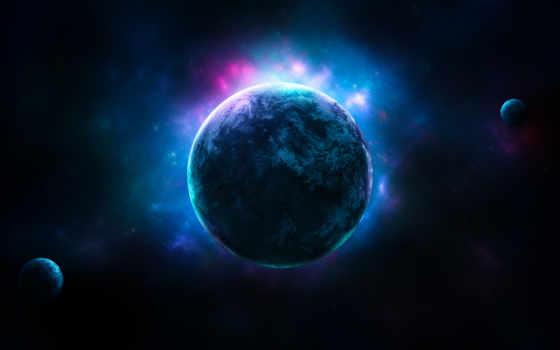 планета, les, solaire, système, свечение, ecran,