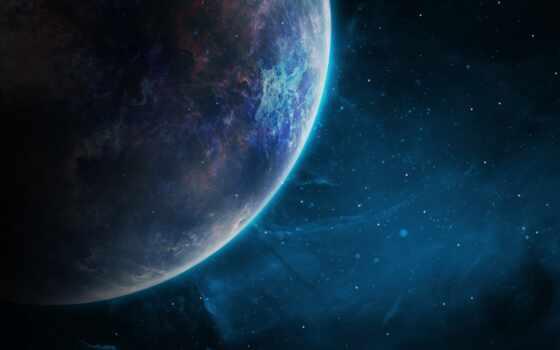 космос, galaxy, planet, star