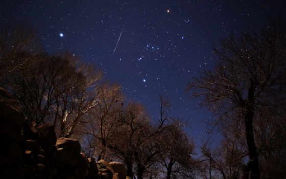 звезды, иран, метеор, геминиды,