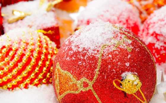 christmas, globe, red