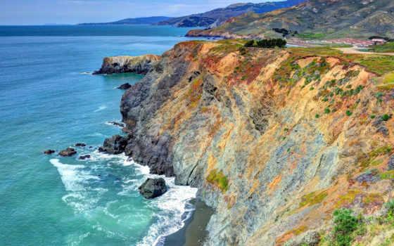 море, cliff, pictures, surf, скалы, rocks, pin,