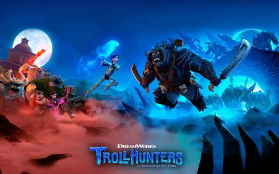 trollhunters, охотники, плакат, trolley, серия, dreamworks, gunmar, тв, вика, анимация, instagram,