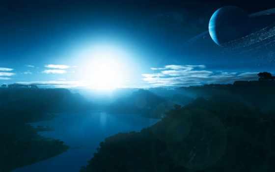 свет, планеты, ни, космос, бесплатные,