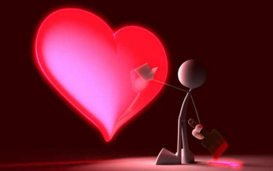 мультяшка красит сердце