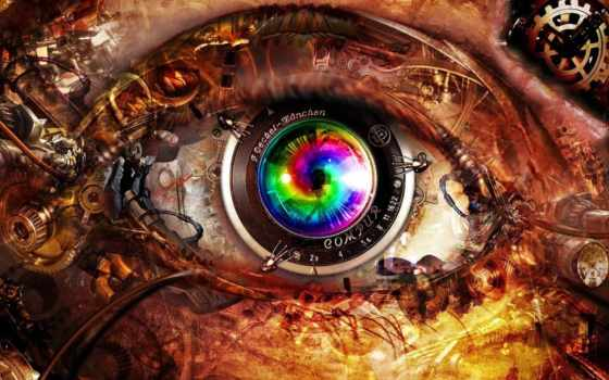 глаз, abstract, свет