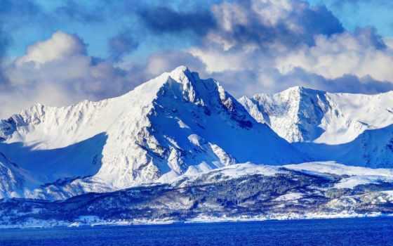 горы, скинали, гор, landscape, фотообои, озером, горах, oblaka,