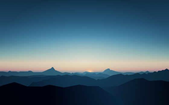 mountains, minimal, гора, minimalist, android, ultra, art,