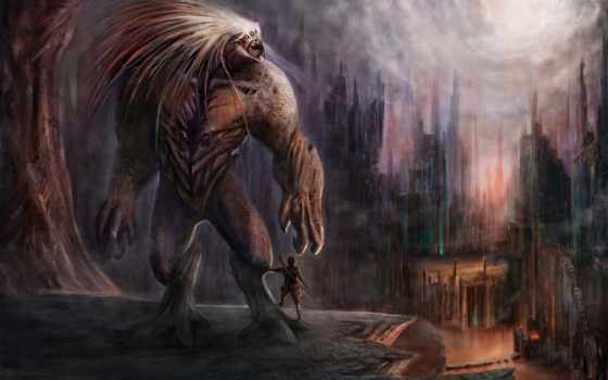 чупакабра, monster, фантастика, гигант, картинка, брауни, fantasy, чудища, vii,