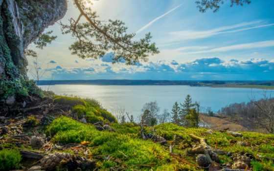 природа, трава, весна, high, берег, качество, prosmatrivatsya, дорога