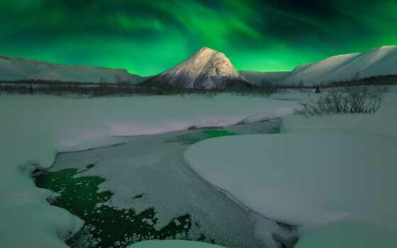 polar, огни, лед, northern, arctic, шапка, мурманск, landscape