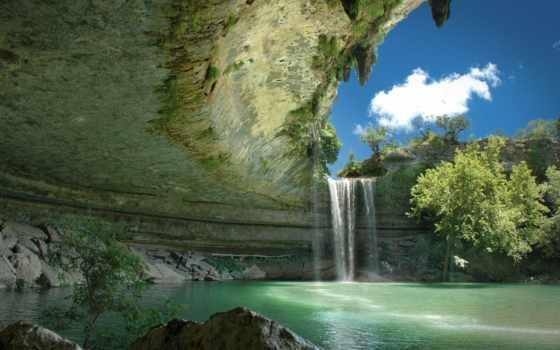 картинка, природа, водопад
