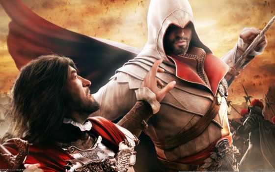 creed, brotherhood, assassin Фон № 108719 разрешение 2560x1440