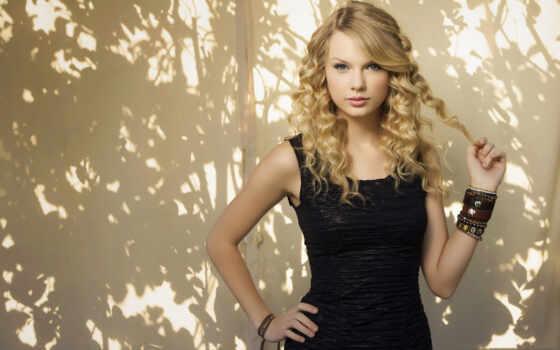 blonde, платье, черном, девушка, кудряшками,