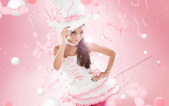 воздушных, платья, шаров, платье, девушка, шариков, many, обсуждение,