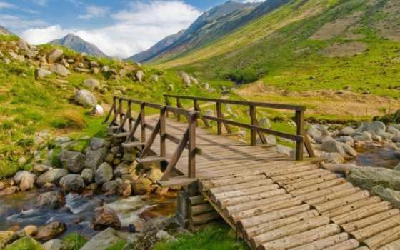мост, сквозь, реку, wooden, нашем, этого, выберите, качества, нужный, высокого,