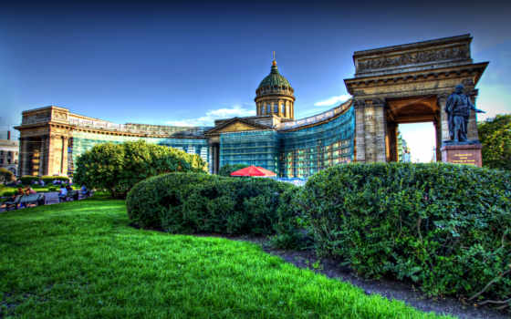 санкт, петербург, peter, cathedral, казань, architecture, город,