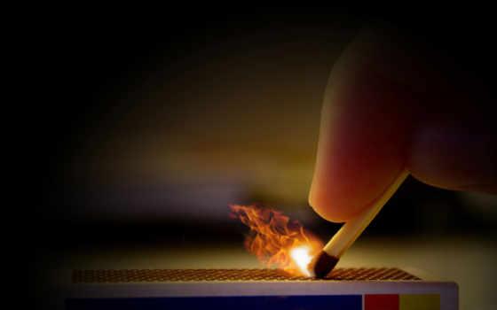 огонь, спичка, спички