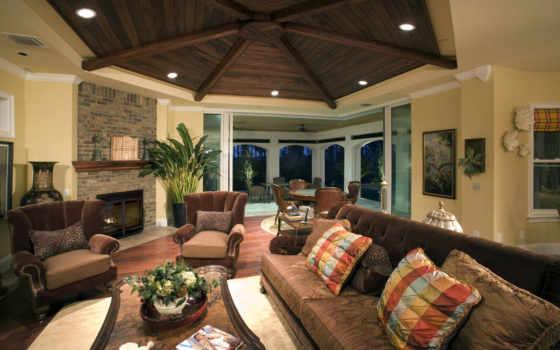 деревянные, потолки, фото, потолка, обои, интерьер