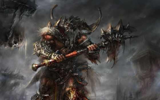 diablo, barbarian, iii, игры,