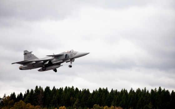 Самолет, Saab, JAS 39, Gripen, Шведский, Многоцелевой, Истребитель, Четвёртого, Поколения,