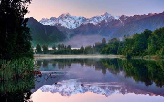 озеро, горы, zealand, новая, new, природа, wakatipu, matheson, лес,
