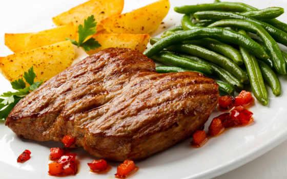 meat, жареное, картошкой, стейк, мультиварке, сочный, еда, жареная, фотографий, очень,