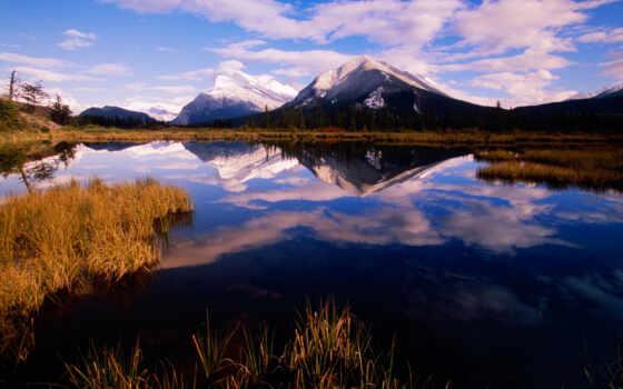 national, park, banff, осень, небо, озеро, уж, loaded, best