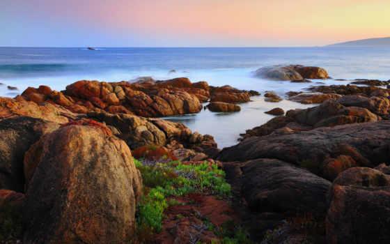 australia, scenery, canal, kayaları, rocks, побережье,