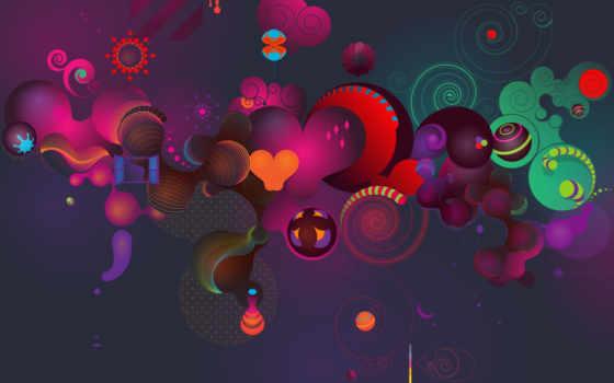 windows, arte, seven, corações, round, simbolos, завитушки, круги, shape, desktop, картинку, beats, little, shapes, vector,