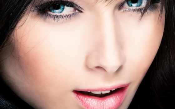 глаза, голубые, красивые