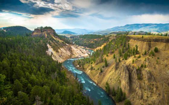 yellowstone, ctrl, national, park, usa, природа, река, каньон, большой,