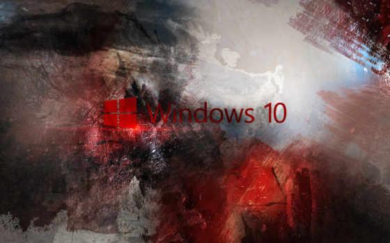 windows, 10, абстракция, лого