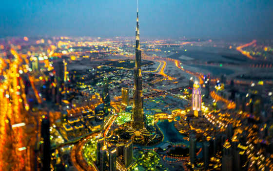 dubai, burj, khalifa, город, телефон, ночь, страница,