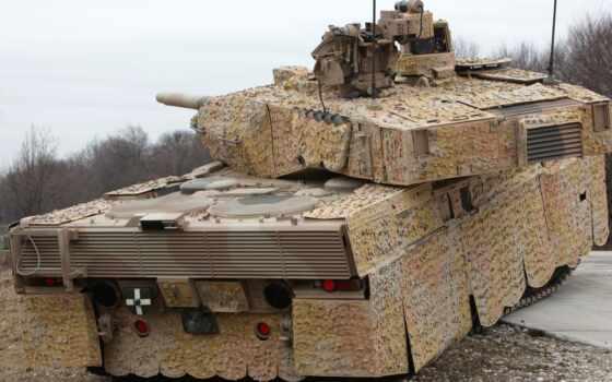 леопард, танк, палуба, оружие