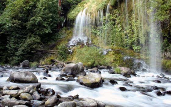 водопады, природа