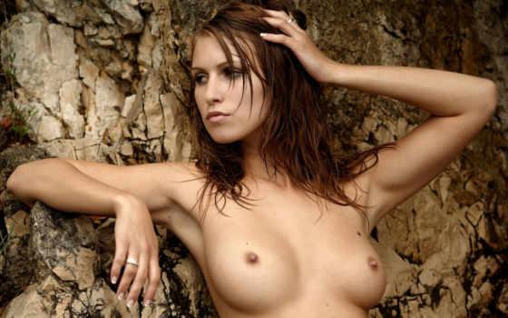 redhead, девушка, busty, природа,
