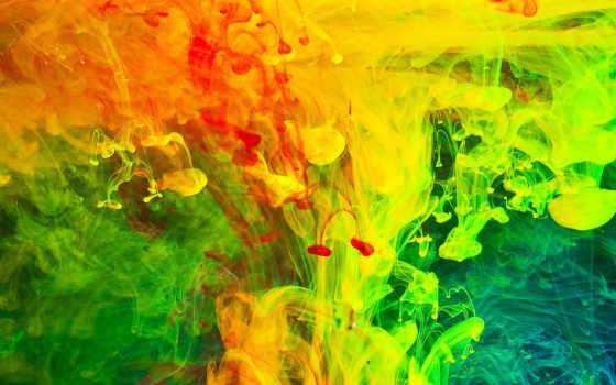 дым, краска, color