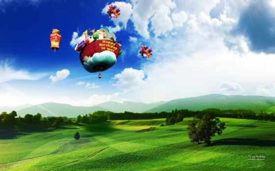 воздушные, широкоформатные, shariki, шары, разрешением,