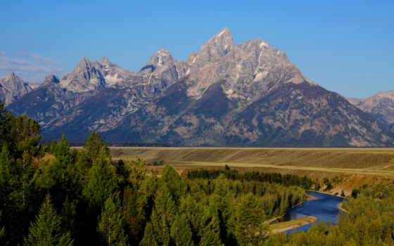 grand, teton, national, park, snake, река, overlook, colorado, wyoming,