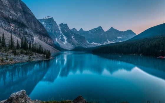 banff, озеро, канада, moraine, park, national