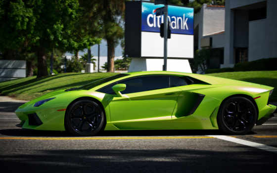 aventador, lamborghini, lp, green, wallpaper, ламб
