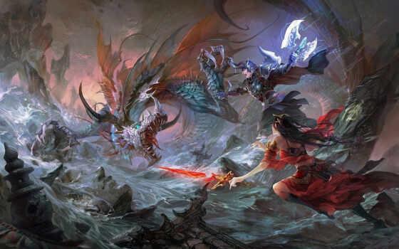 битва, дракон