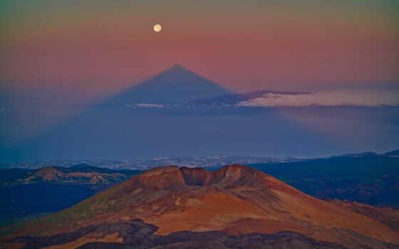 teide, nature, casado, mont, ecran, fonds, volcano, shadow, landscapes, sâu, juan, carlos, mount, triangular, este, vulcanului, perspectiva, seen, volcans, shadows, sun, pyramids, flip, tenerife, pare