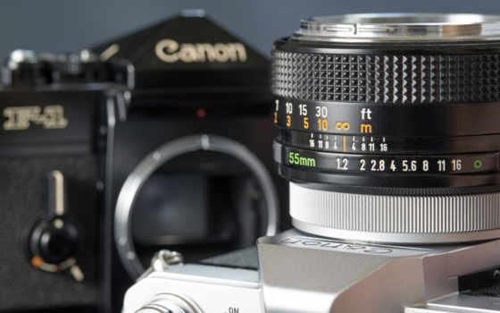 canon, фотоаппарат, объектив