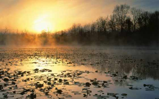 cuyahoga, долина, восход