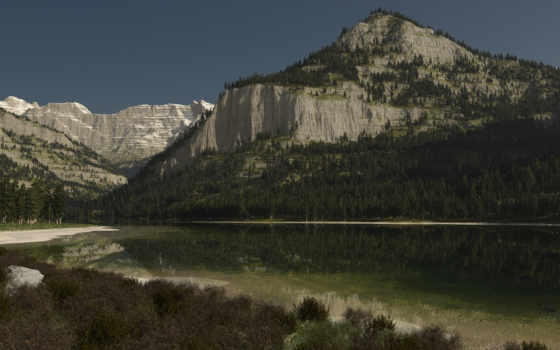 озеро, лес Фон № 76138 разрешение 1680x1050