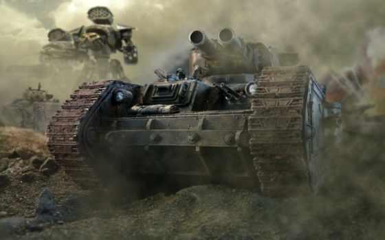леман, русс, танк, warhammer, пулеметы, броня, стволы,