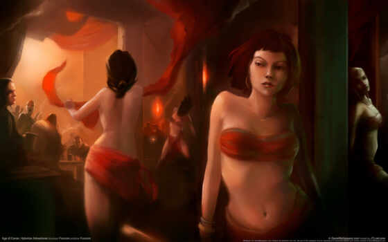 conan, age, игры, hyborian, games, adventures, ёязе, dressed, woman, red, game,